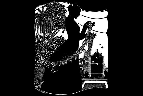 Michelle Dick Scratchboard Wahine